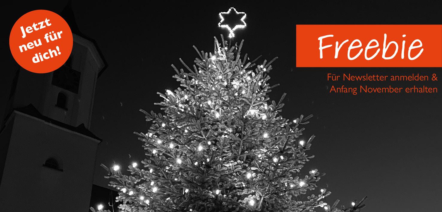 Neues Freebie: Hashtagliste für Weihnachten