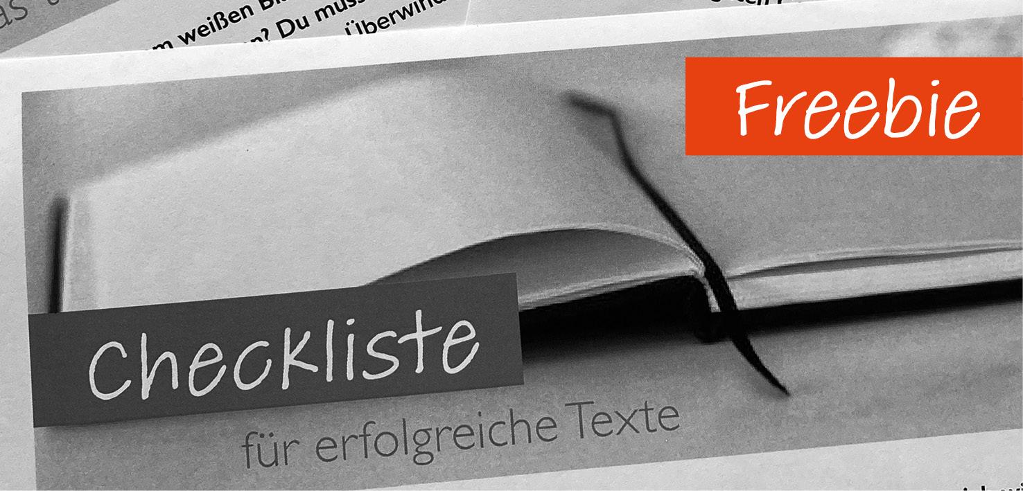 Freebie: Kostenlose Checkliste für erfolgreiche Texte