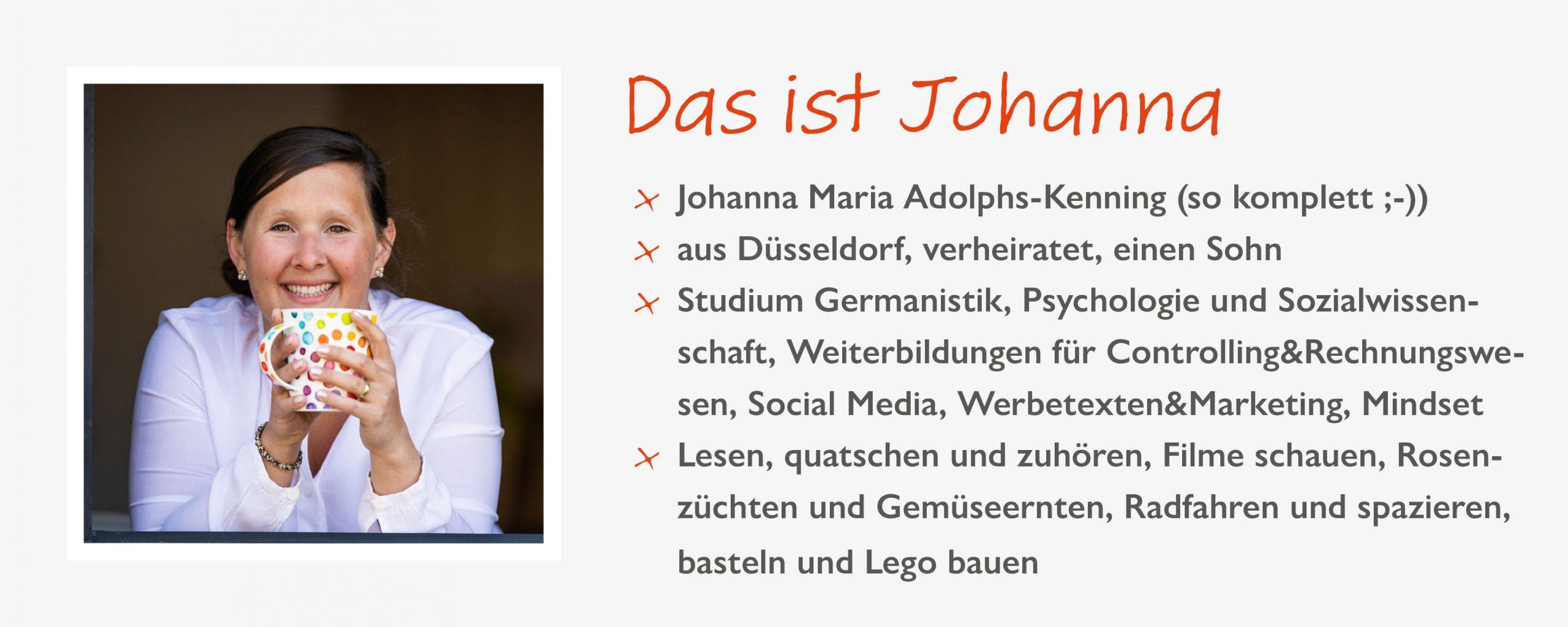 Steckbrief Johanna Adolphs-Kenning