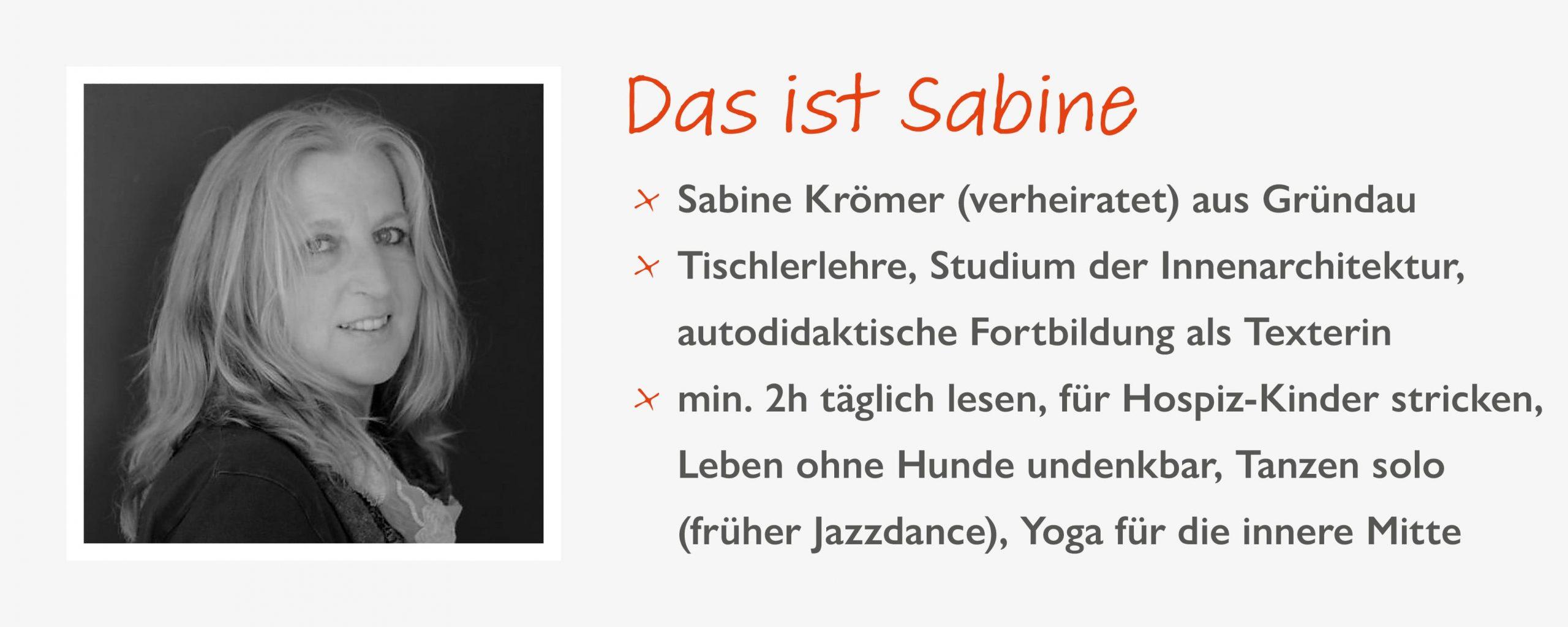 Steckbrief Sabine Krömer