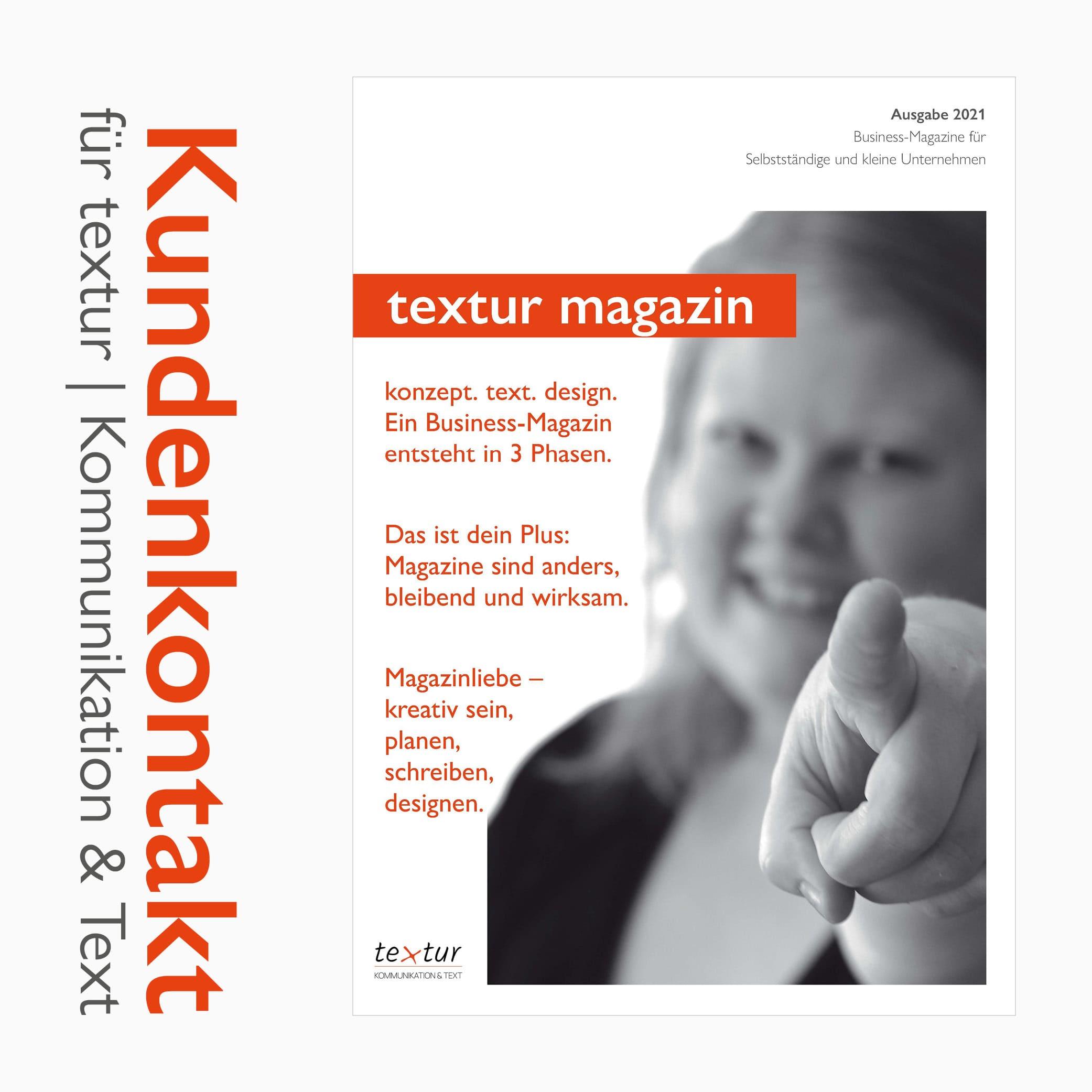 Magazine Referenzen: Kundenkontakt für textur | Kommunikation & Text