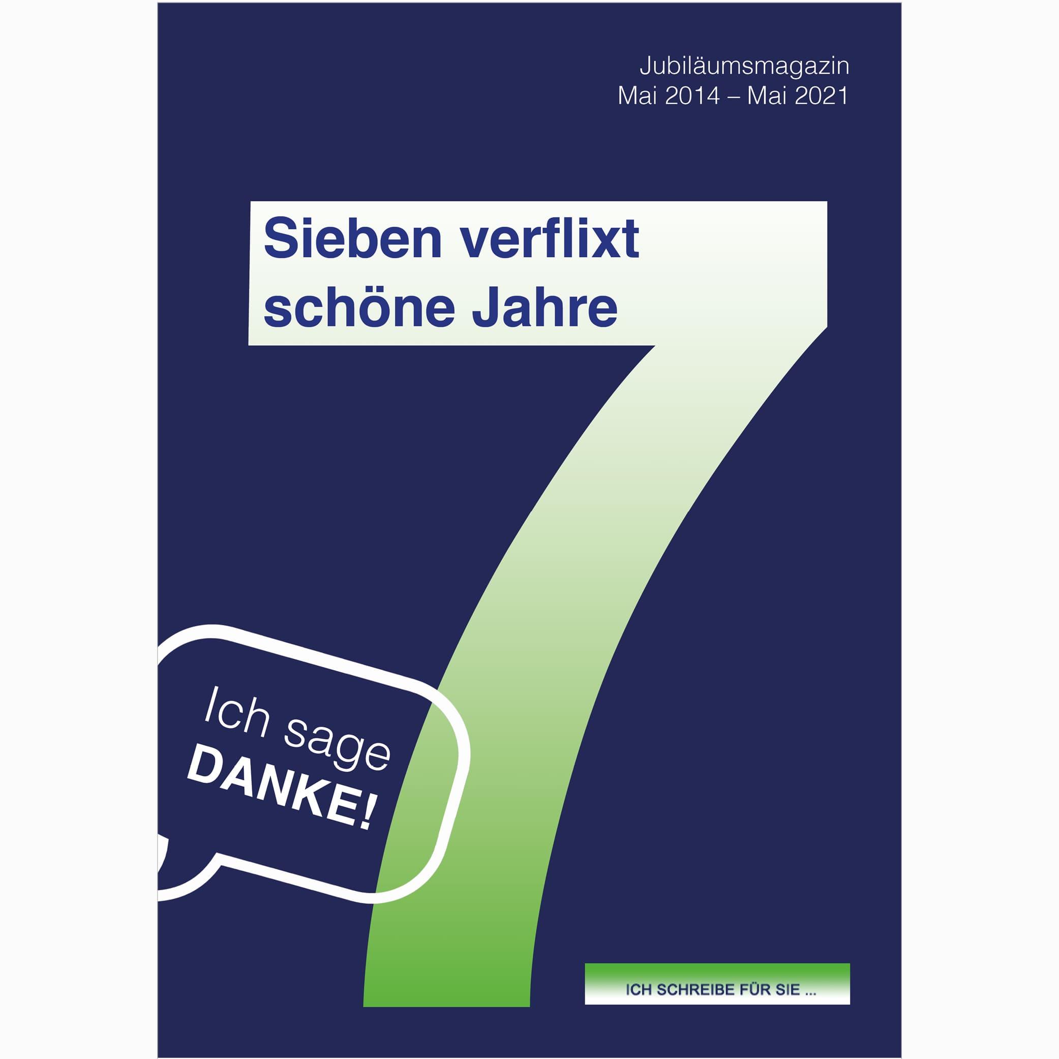 Jubiläumsmagazin von Sabine: Sieben verflixt schöne Jahre